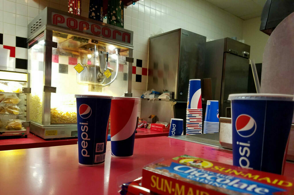 photo of movie concession stand