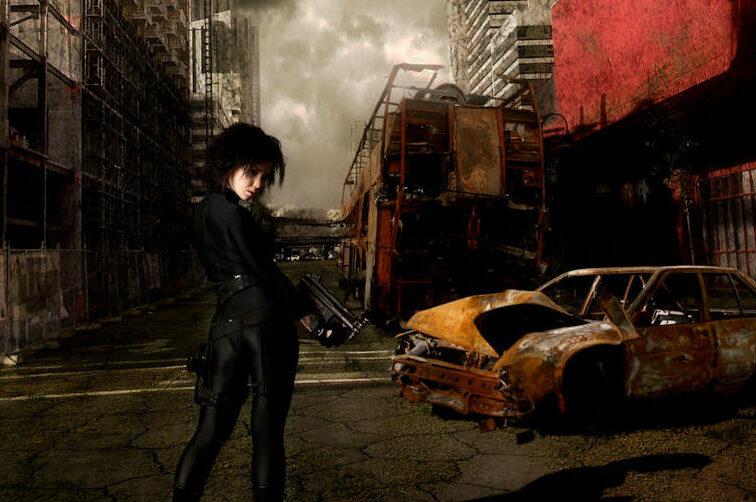 abandoned city illustration