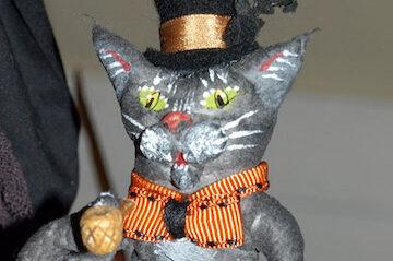photo of feline Halloween decoration