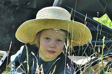 image of an Amish boy