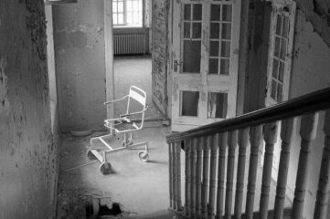 photo of abandoned mental hospital