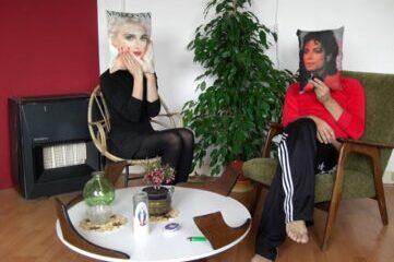 music stars Michael Jackson and Madonna
