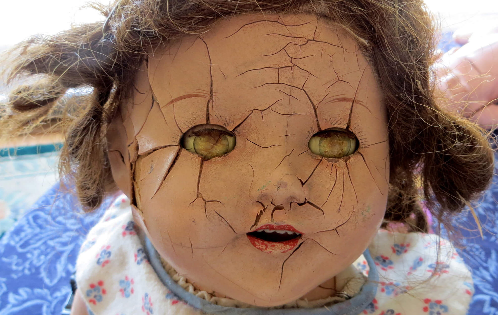 photo of creepy doll