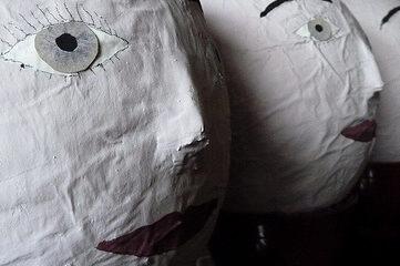 photo of head sculptures