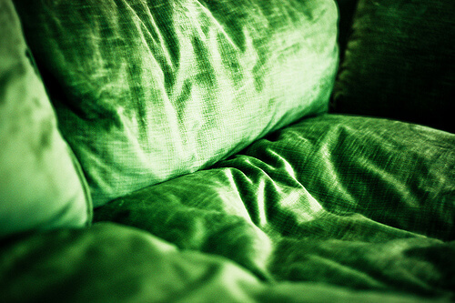 photo of green couch