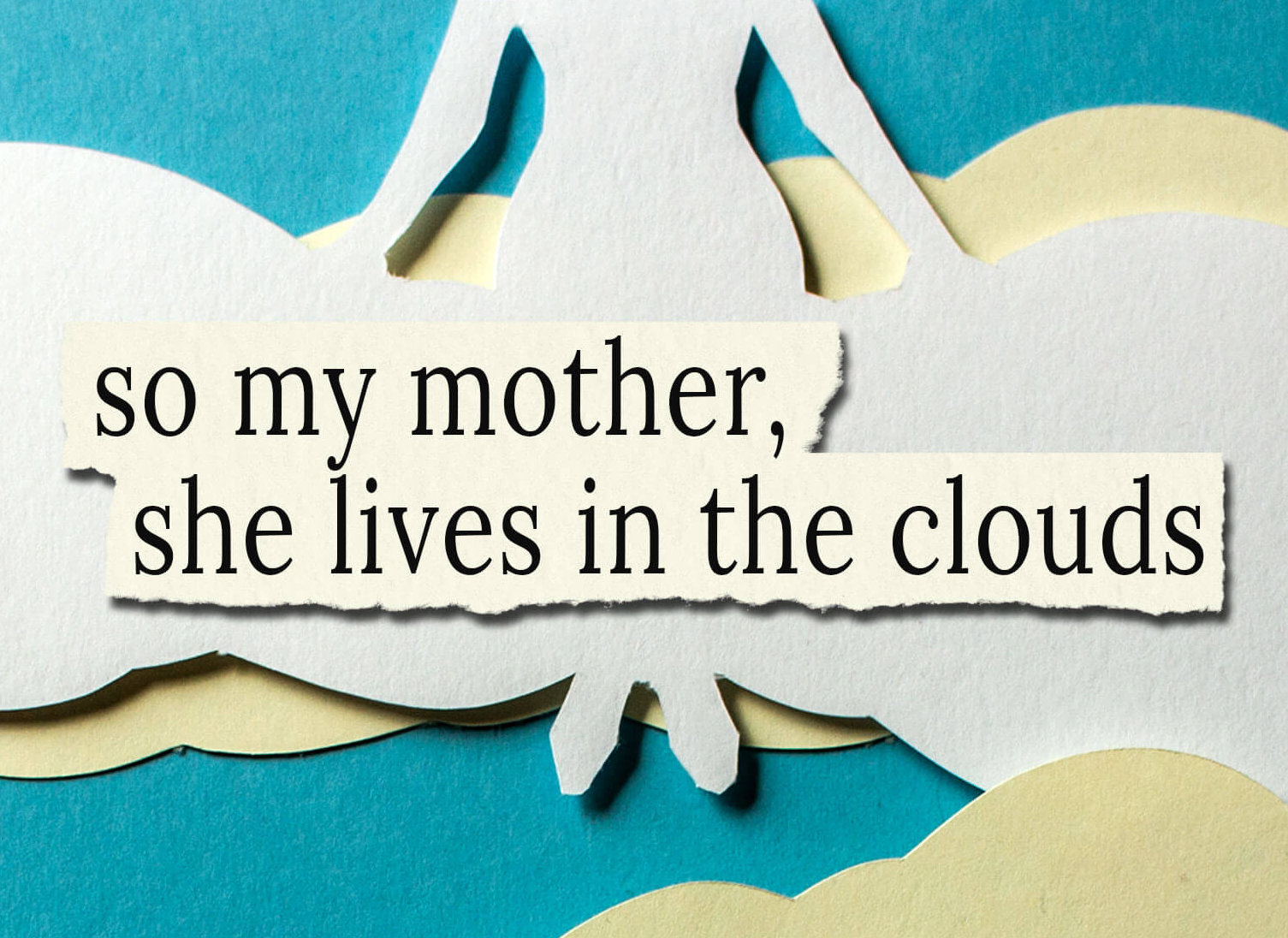 "cover for ""So My Mother, She Lives in the Clouds"" by Christopher DiCicco"