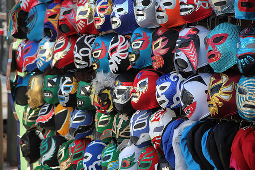 photo of wrestling masks