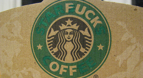 photo of a Starbucks coffee sleeve