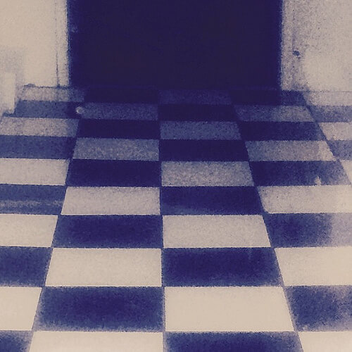 #floor #checkered #linoleum #Black&White #sanfrancisco #lynnfriedman