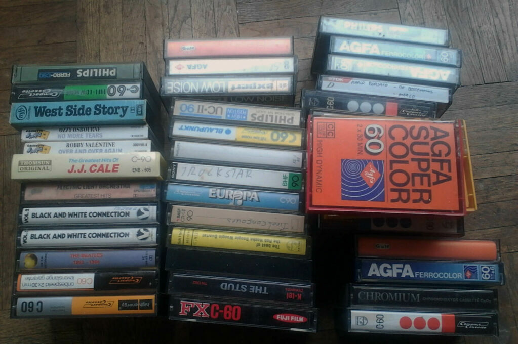 photo of cassette tapes