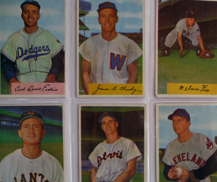 photo of old baseball cards