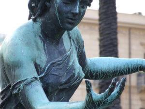 photo of female statue