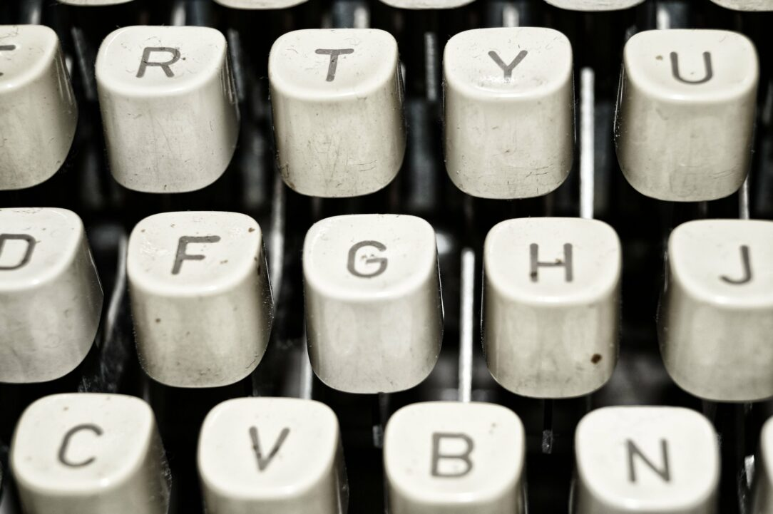 photo of old typewriter keys