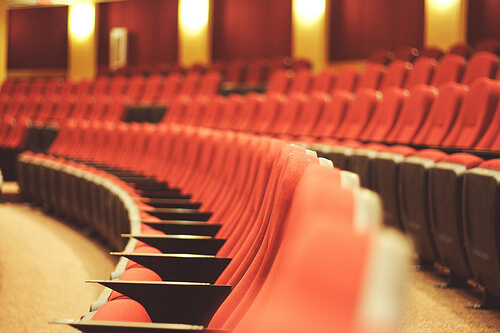 photo of rows of seats in a theatre