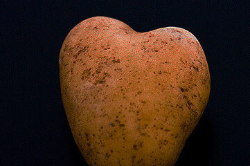 photo of heart-shaped potato