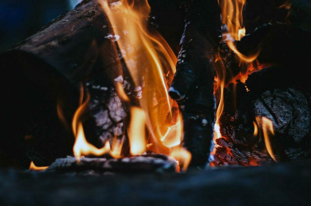 photo of firewoord burning