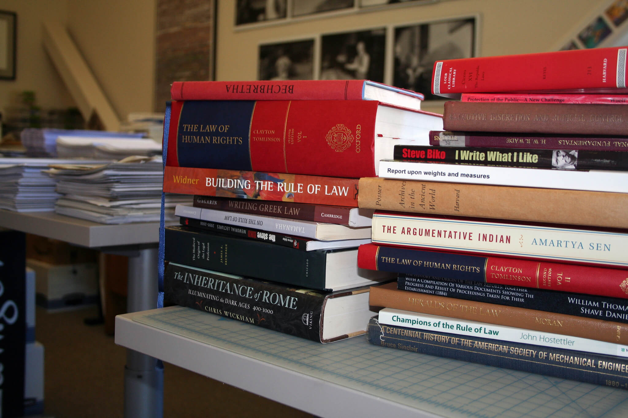 photo of a stack of law books