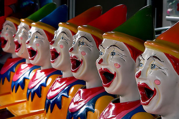 photo of clown statues